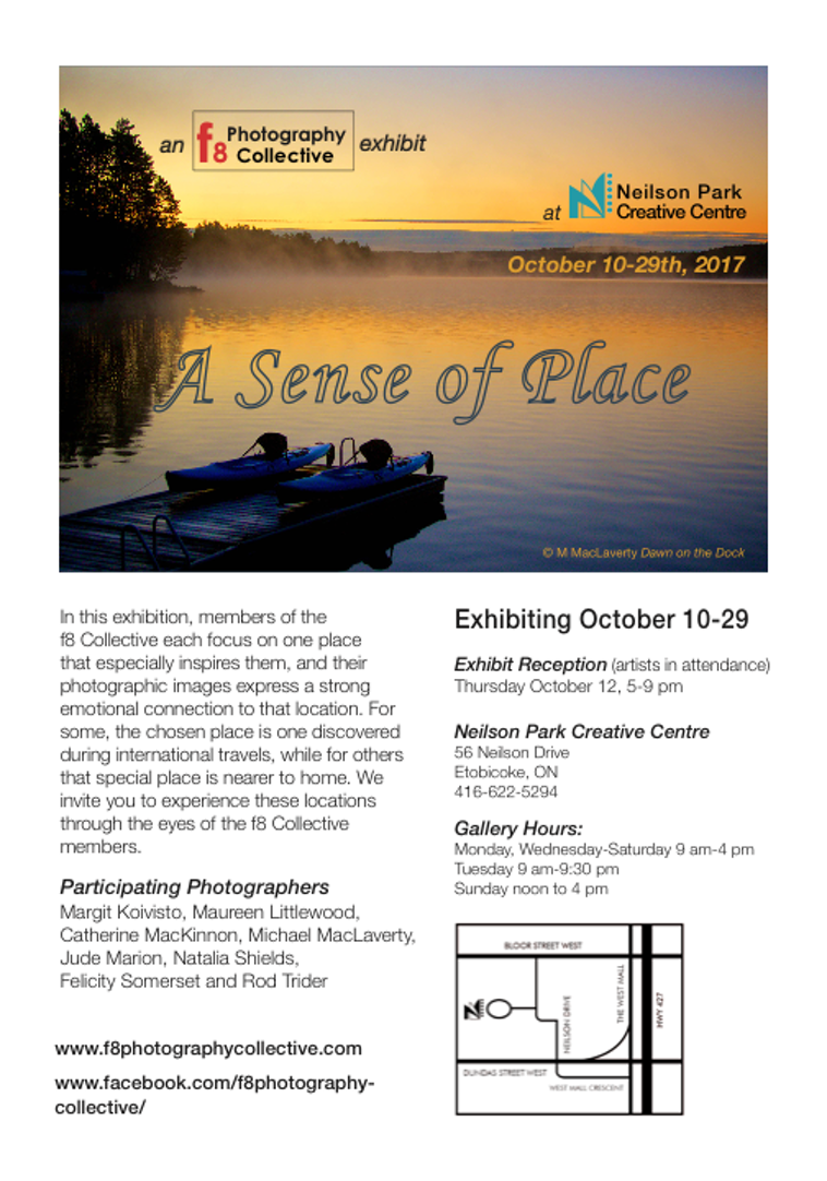 A Sense of Place  Exhibit Invitation
